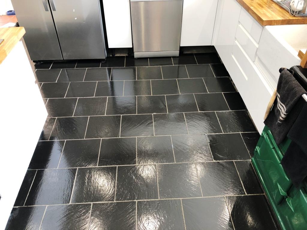 Kitchen Slate Floor Tiles After Renovation