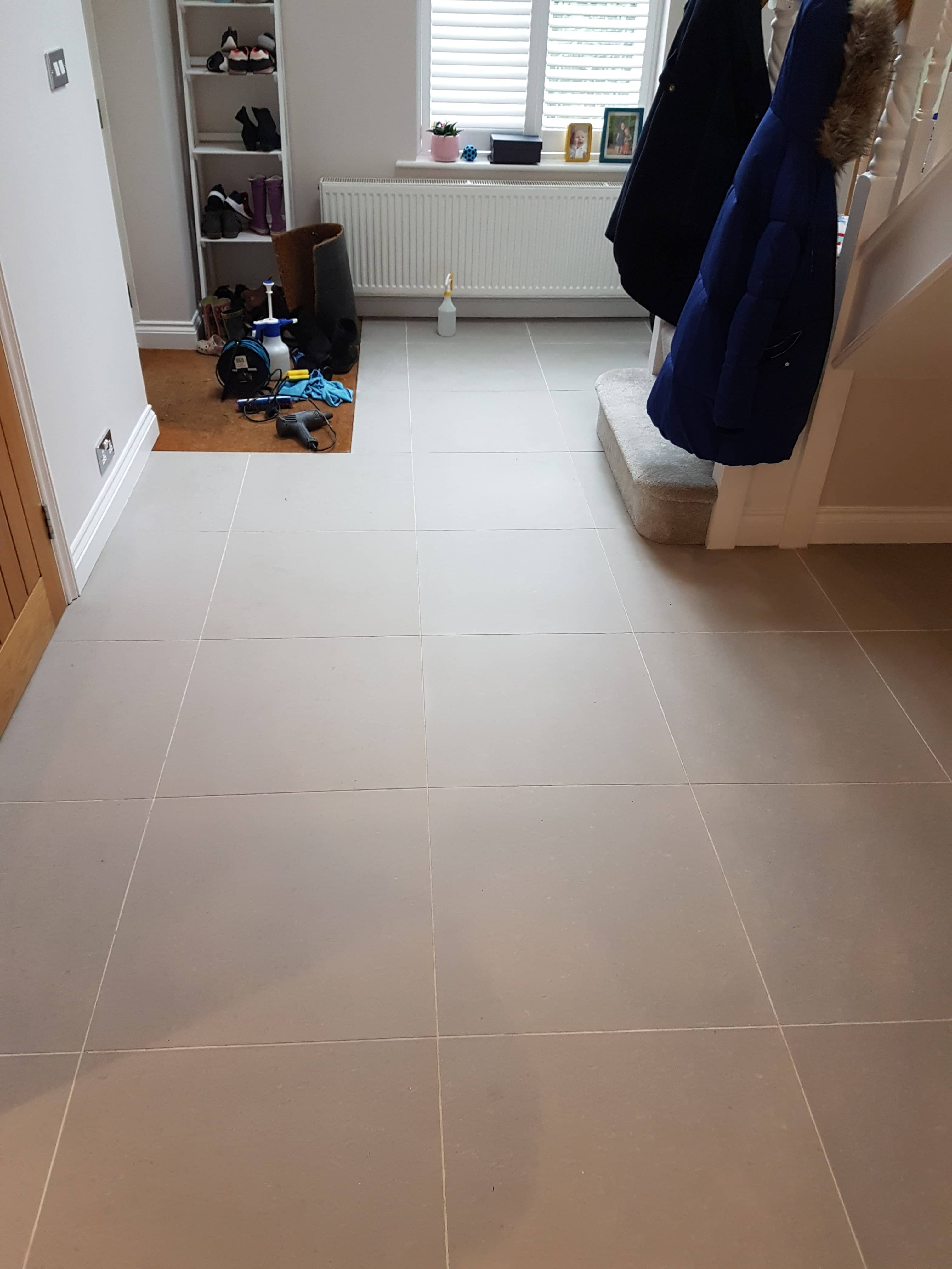Porcelain Tile and Grout After Cleaning