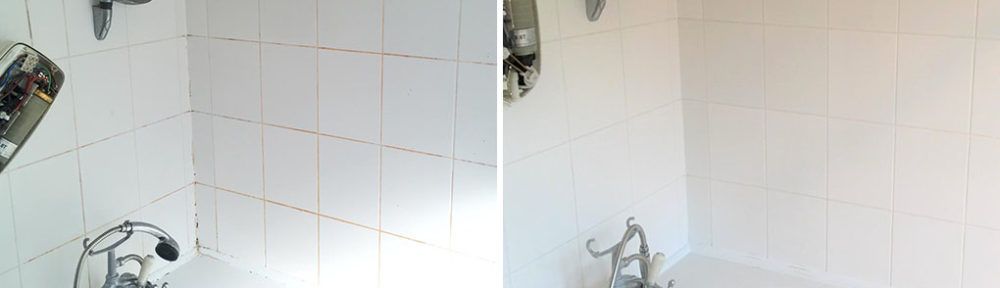 Cleaning Ceramic Bathroom Shower Tile and Grout in Bow