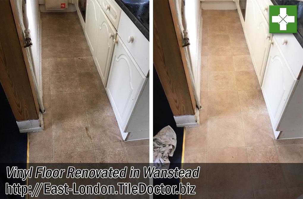 Jerusalem Vinyl Tiled Kitchen Floor Before After Renovation Wanstead