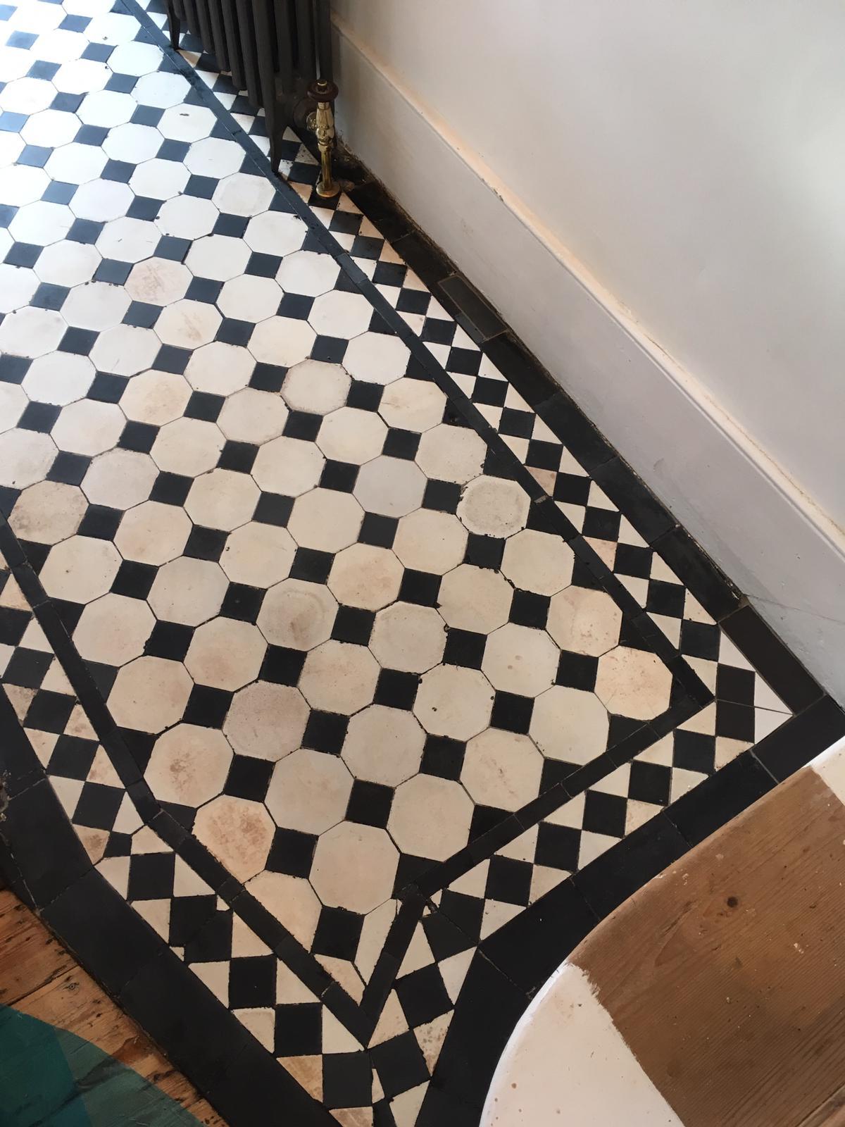 Edwardian Floor Covered in Bitumen After Restoration in Leyton E10
