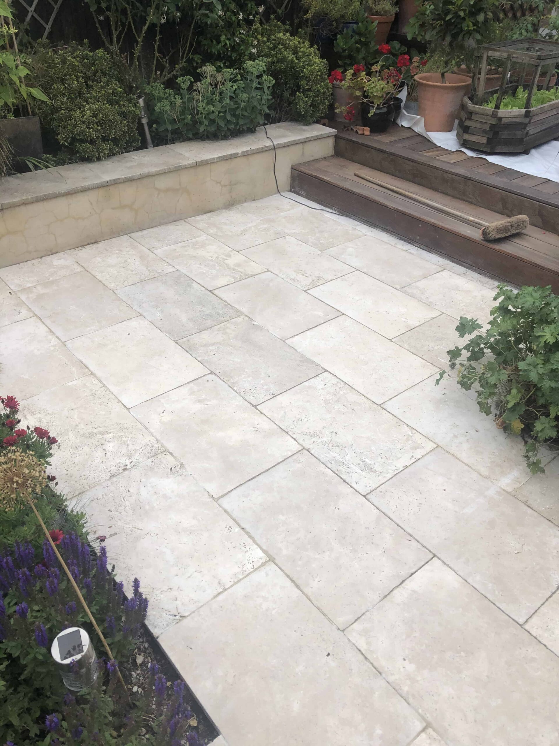 Travertine Patio After Renovation Hackney E5