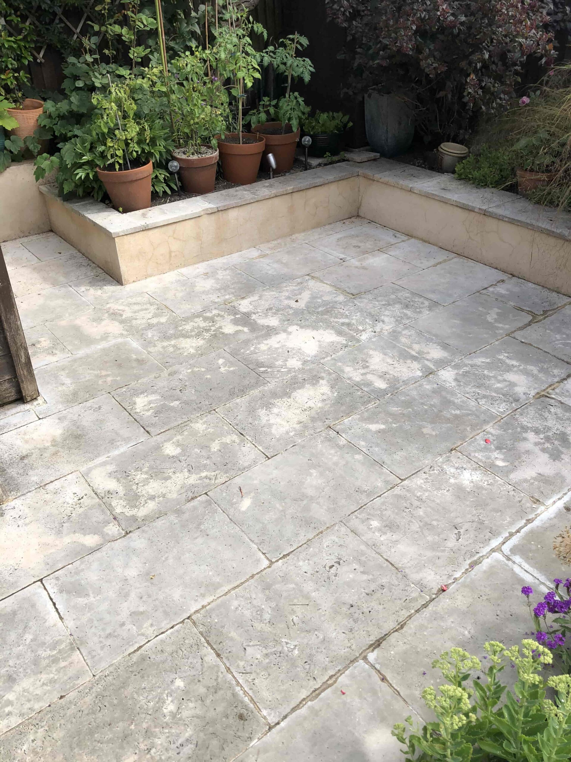 Travertine Patio Before Renovation Hackney E5